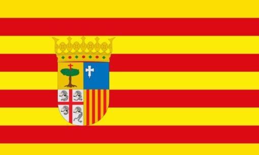 Aragon vlag wereldvlaggen