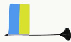 oekraine vlag tafelvlag