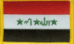 Iraq flag patch