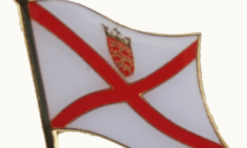Jersey Channel Island flag pin