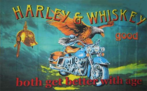 Harleys and Whiskey flag